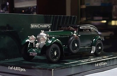 Minichamps 1/43。Bentley 6 1/2 Litre Gurney Nutting 1930。原盒