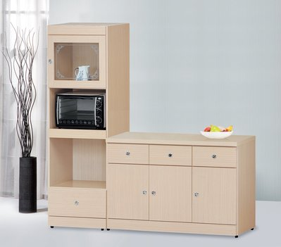 【南洋風休閒傢俱】精選餐櫃系列-碗盤櫃組 餐櫃 櫥櫃 收納櫃-白橡2*6尺餐盤櫃CY355-520