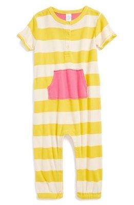 *Dou Dou House*美國stem baby有機純棉童裝 條紋口袋連身裝-size:12M(現貨)