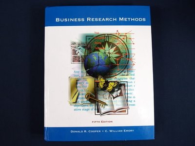 【考試院二手書】《Business Research Methods 》│Irwin│Donald R. Cooper, C. Wi│八成新(22Z21)