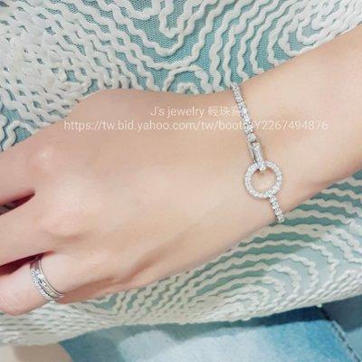 珠寶訂製18K金白金時尚排鑽手鍊 天然真鑽一克拉以上圓環鑽石手環 tiffany Cartier 情人節特惠