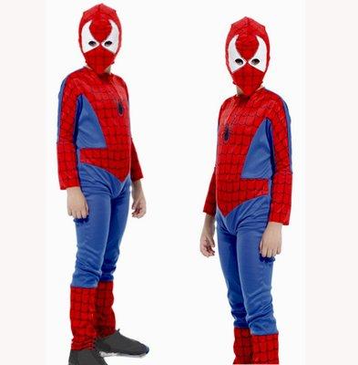 【洋洋小品兒童蜘蛛人服裝BB57】萬聖節服裝聖誕節服裝動漫英雄舞會派對角色扮演服裝道具聖誕節服裝蝙蝠俠美國隊長超人