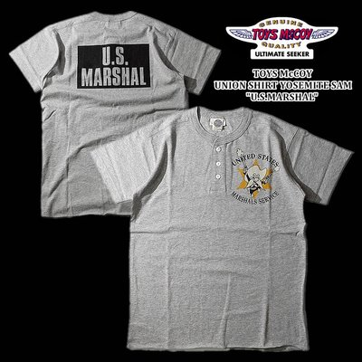 "【TOP MAN】 TOYS ""U.S.MARSHAL""TEE美式復古亨利領TEE短袖T恤 20652110"