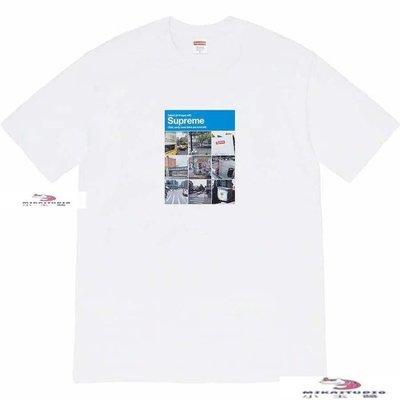 MIKASTUDIO Sup 20FW Verify Tee 驗證碼 街景九宮格圖片圓領男短袖女T恤情侶