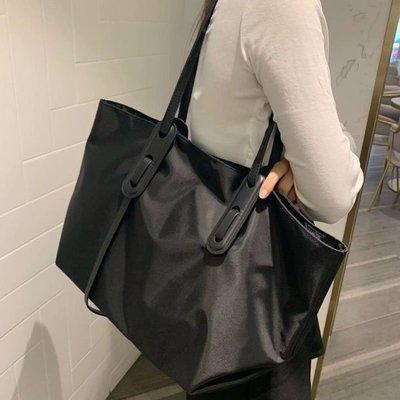 阿南真皮皮包包包2021秋冬款百搭尼龍布包潮2021正韓休閒托特包大容量單肩包女