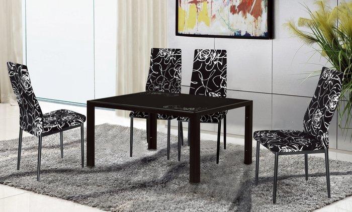 FA-487-3曼菲斯黑色餐椅-黑布花/高品質/新竹以北區/家具/超低價/系統家具/沙發/高品質/1元起