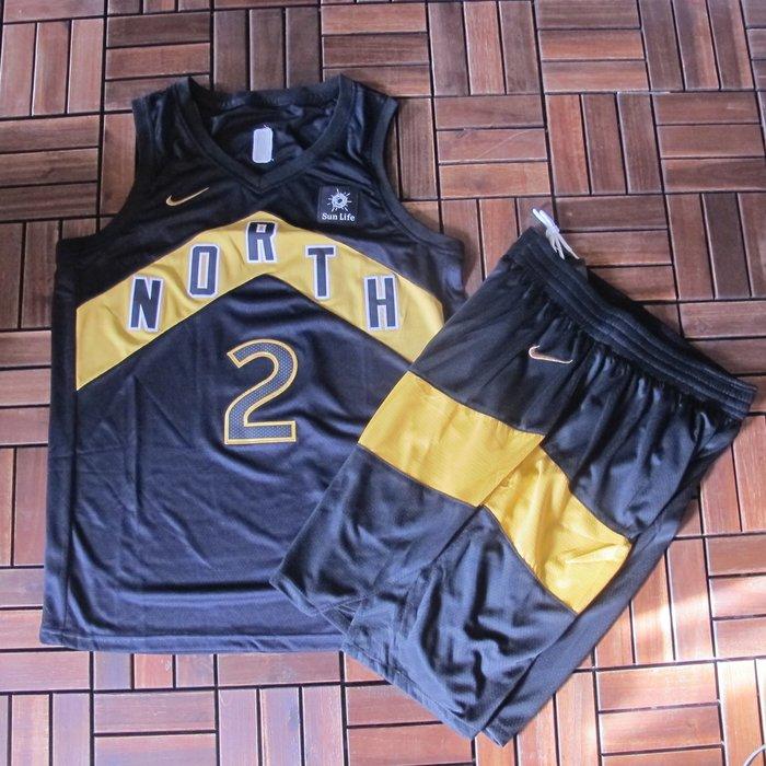 NBA球衣暴龍隊#2號球衣  LEONARD  倫納德 城市版 黑色套裝