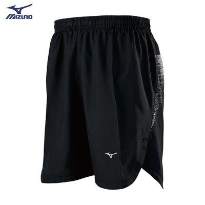 棒球世界全新【MIZUNO 美津濃】男款路跑短褲 J2TB955299(黑X黑)特價