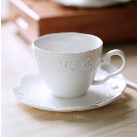 【愛麗絲生活家飾雜貨】~蝴蝶系列~日式浮雕下午茶咖啡杯碟組