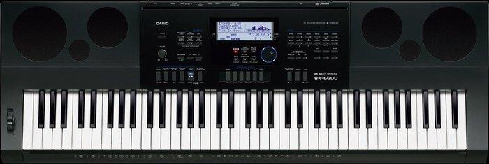 ☆ 唐尼樂器︵☆ CASIO 卡西歐 WK-6600 76鍵電子琴(全新高階琴款,附琴袋超值配件現場教學)