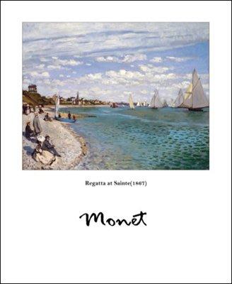 三幅一組油畫布  莫奈海灘風景  畫芯/畫布/30X40☺暖暖屋☺傢居藝術館