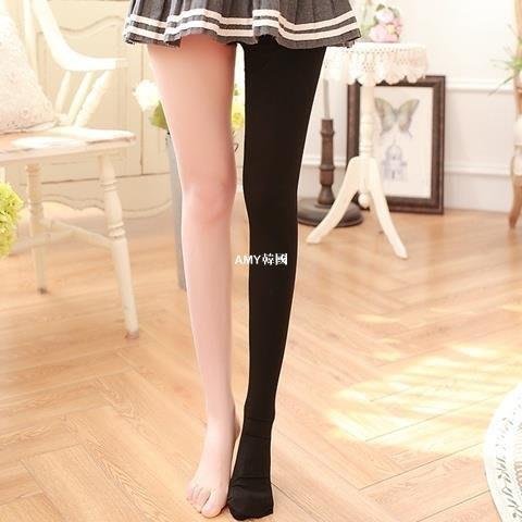 韓國藝容~春秋新款輕壓力襪瘦身連襪 美腿利器連褲襪 CD偽娘變裝打底褲襪女