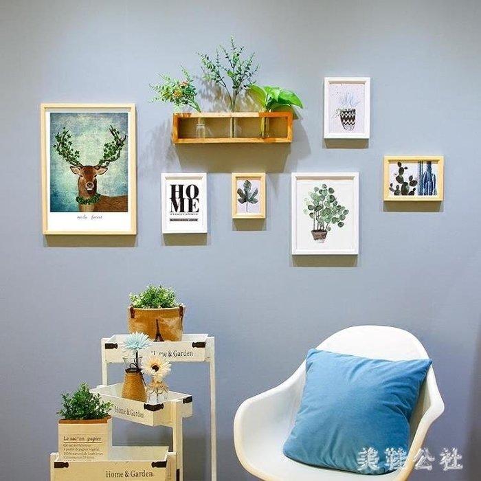 照片墻 餐廳墻上花架相框宜家相片創意個性裝飾 ZB902