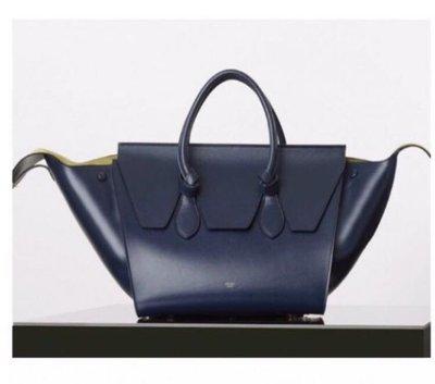Celine mini Tie handbag/Knot Tote bag Navy blue&yellow 鈕結款托特包 撞色限量款式