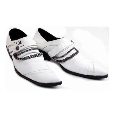 個性時裝男皮鞋 2014新款韓版增高男鞋發型師男士皮鞋商務休閑透氣尖頭皮鞋高跟鞋