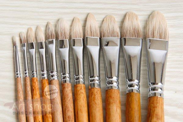 【Artshop美術用品】韓國 Rubens 魯本斯 650 白雪貂毛油畫筆(半圓) #6