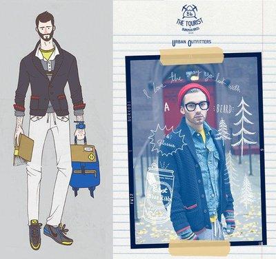 BURKMAN BROS Shawl Cardigan 披肩領 開襟外套 大針織毛衣 海軍藍 紅滾邊 全新正品現貨SM