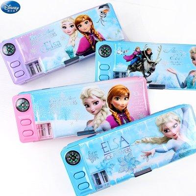【預購】迪士尼冰雪奇緣 多功能文具盒 小學生女童 韓版卡通 塑料筆盒 鉛筆盒