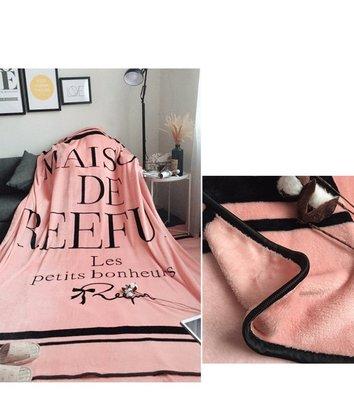 女神梨花毛毯字母親膚法蘭絨空調毯沙發蓋...