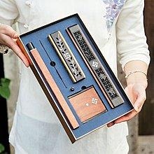 春在便攜式木質臥香爐套裝黑檀酸枝香插熏香爐 香筒香具套線香 法器供品 拜拜用具 佛具擺設