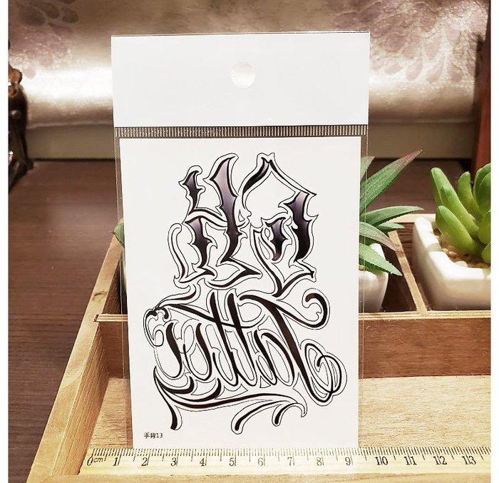 【萌古屋】】個性英文 - 手背防水紋身貼紙刺青貼紙13 K12