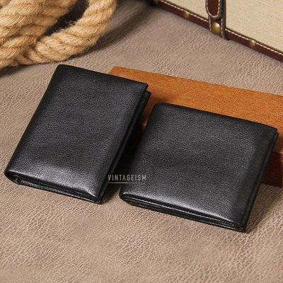 原創手工皮革頭層牛皮英倫復古軟身薄款短銀包 生日禮物 免費刻名