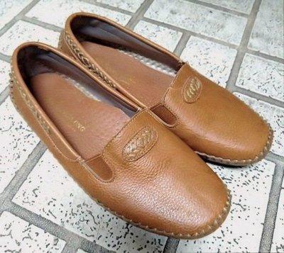 YING LUNG真皮縫線豆豆氣墊鞋