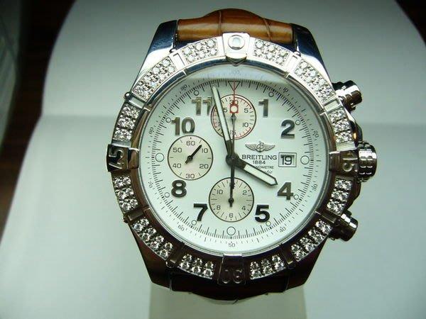 [吉宏精品交流中心]BREITLING 百年靈 原鑲鑽石限量自動計時碼錶(超級復仇者)