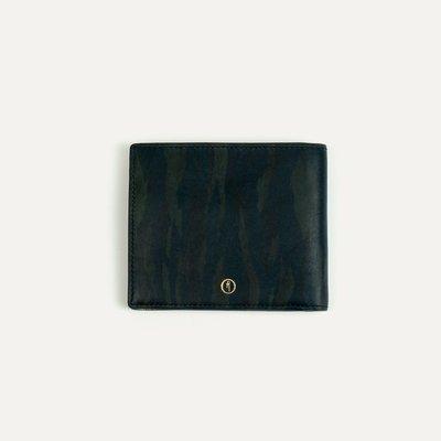 法國 Bleu de Chauffe Braise Wallet 皮夾 植鞣上色 真皮 短夾 原色皮革 限量藍迷彩 現貨