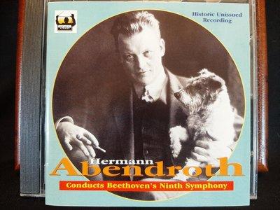 Abendroth,Beethoven:Sym No.9,阿本德洛斯,貝多芬:第九號交響曲,如新。