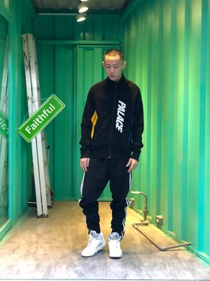 【Faithful】PALACE MIX UP TRACK TOP  外套  黑 S