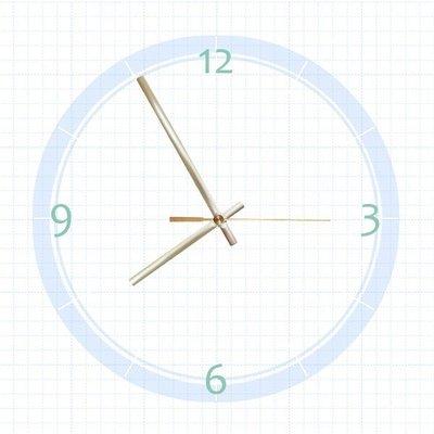 【鐘點站】T115075G SUN機芯專用 金色圓弧簡約款 / 分針115mm 時針75mm / DIY 時鐘 掛鐘 鐘針