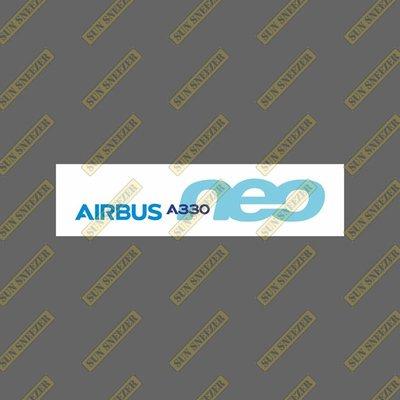 AIRBUS 空中巴士 330neo 橫幅 LOGO 防水貼紙 尺寸120x30mm
