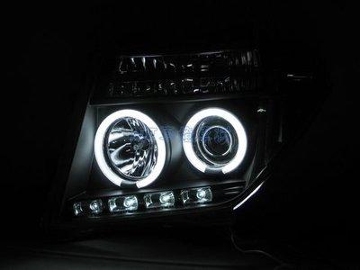 ~~ADT.車燈.車材~~NISSAN FRONTIER PATHFINDER  05年 CCFL光圈魚眼黑底大燈一組