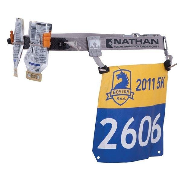 【大山野營】美國 NATHAN 號碼補給帶-穿式 號碼布夾 馬拉松 越野馬必備 NA1126NG-N
