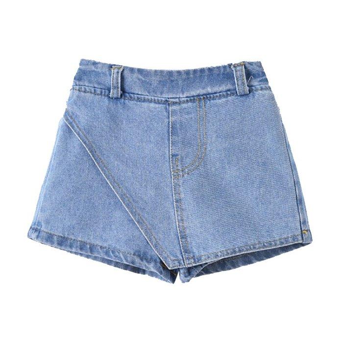 •*~ 辣媽咪衣飾小舖 ~*•❤童裝系列❤K040228韓版大童夏款可愛百搭休閒寬鬆系帶牛仔短褲