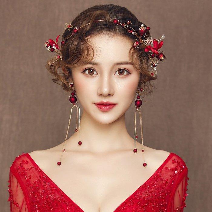 解憂zakka~ 新娘頭飾新款結婚韓式婚紗禮服發箍發飾套裝婚禮敬酒服超仙配飾品#頭飾#髮飾