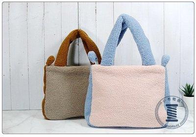 ✿小布物曲✿手作 簡約風毛毛包2- 跳色極簡的包款精巧手工車縫製作 可愛甜美的配色 2色
