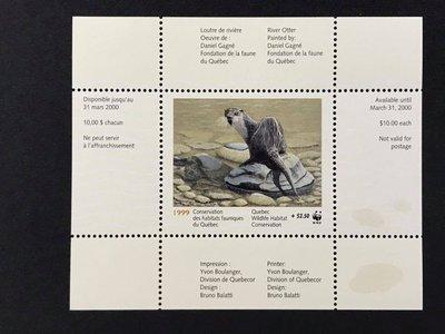1999.04.01 #加拿大 #魁北克野生動物保育WWF小型張1全 400元
