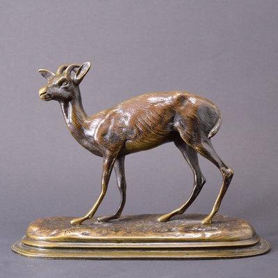 法國19世紀名家銅雕羚羊~幸子老鋪
