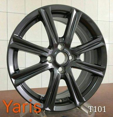 和田☆ 全新 T101 16吋4孔100 鐵灰 鋁圈 TOYOTA YARIS 款式 VIOS ALTIS 可樂那