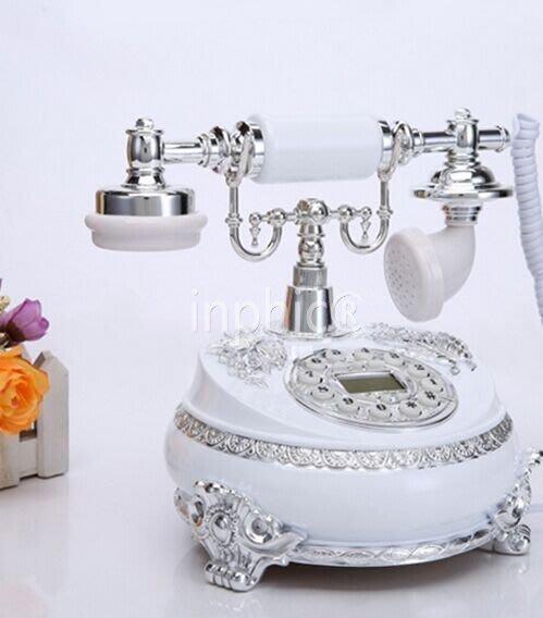 INPHIC-歐式復古復古電話機座機家用 宮廷時尚固定電話機來電顯示1
