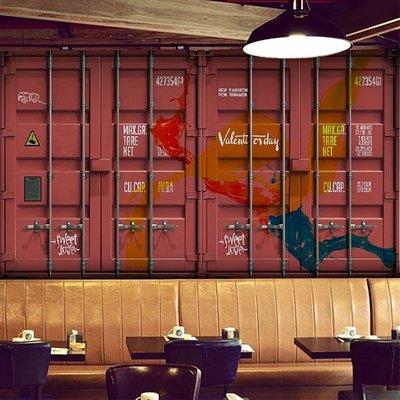 【夏法羅傢飾】貨櫃屋訂制壁紙 ‧ LOFT 工業風 ‧ 鐡皮壁紙 SC-01-1 紅色貨櫃