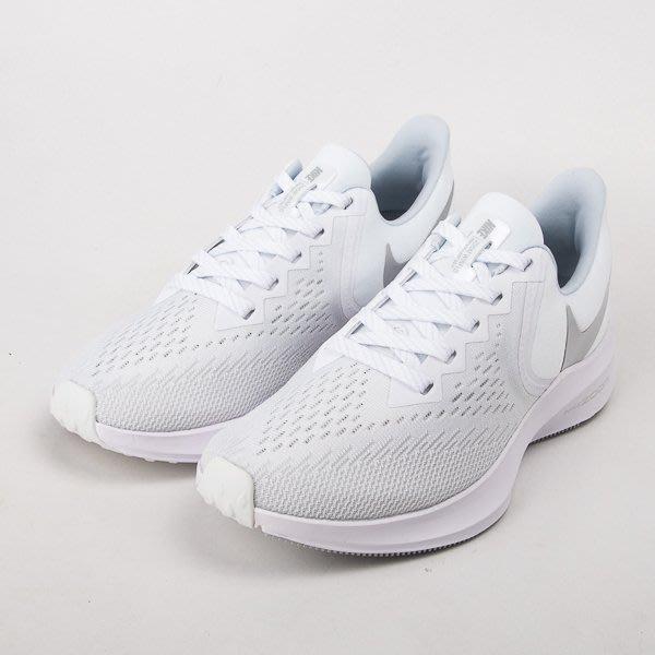 NIKE WMNS ZOOM WINFLO 6 女款慢跑鞋-白/銀 AQ8228-100  現貨