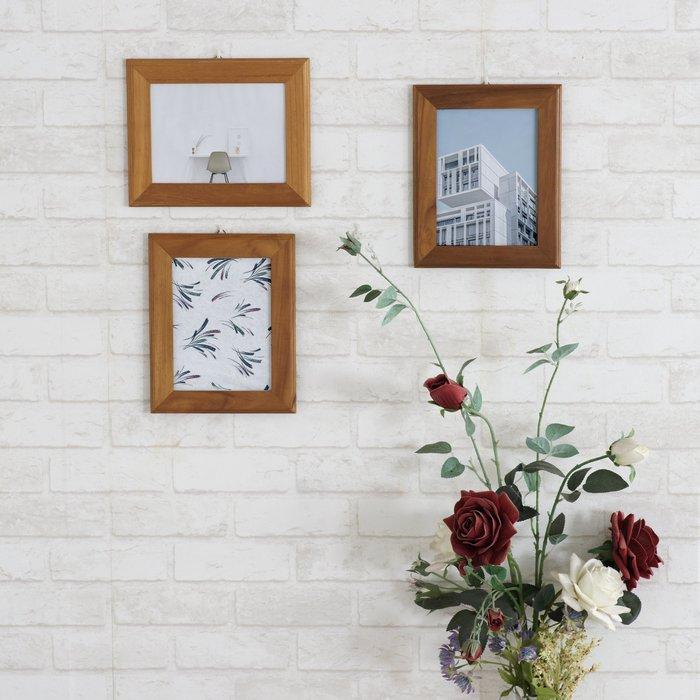 柚木相框 適用A4相片【大綠地家具】木藝品/印尼進口/手工藝/居家佈置/擺飾品/相框牆