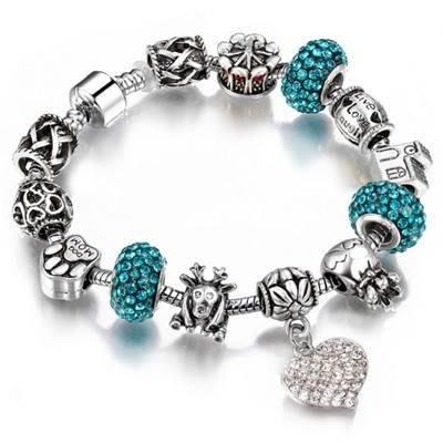 串珠手鍊 手環-精緻鑲鑽歐美時尚女配件8色73bp26[獨家進口][巴黎精品]