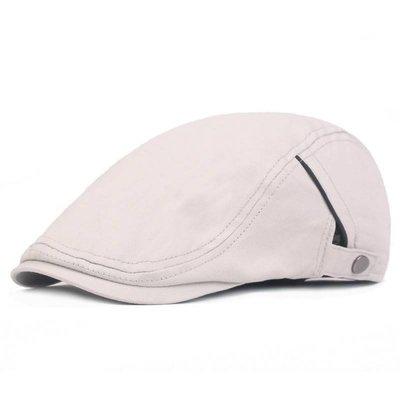 透氣純色棉質貝蕾帽.前進帽.小偷帽.打鳥帽.鴨舌帽(W390)
