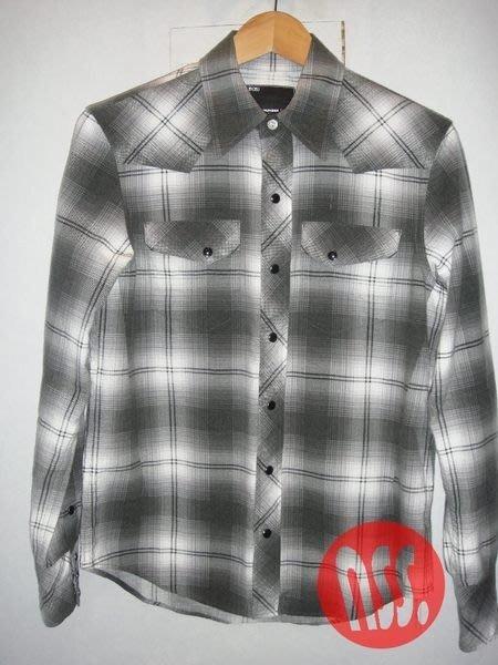 特價「NSS』N(N) NUMBER (N)INE NINE N9 格紋 長袖 襯衫 M 音符