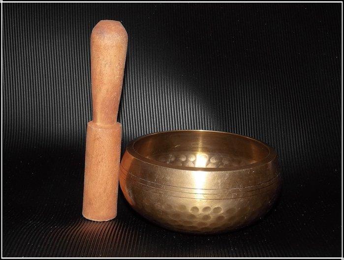 【雅之賞|佛教|藏傳文物】特賣*尼泊爾手工11cm響銅佛音碗~205305