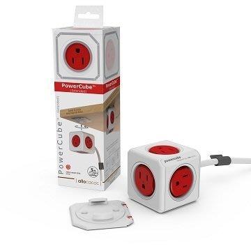 PowerCube 魔術方塊延長線(紅色) 紅→5面插座、3孔、1.5米 台中市